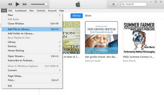 add audible to itunes library