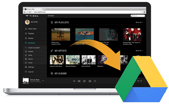 add tidal files to google drive