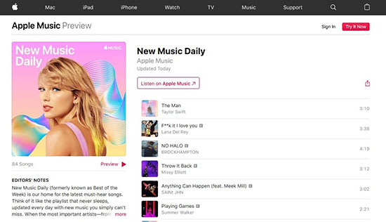 apple launches new music daily