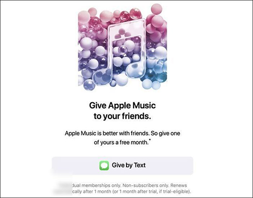 apple music 1-month free trial