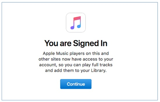 sign in apple music