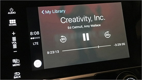 play audible in the car via carplay