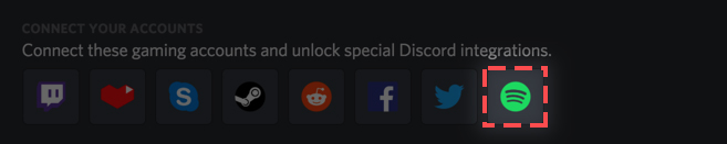 click spotify logo on discord