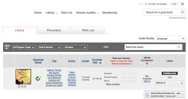 download audible audiobooks on pc