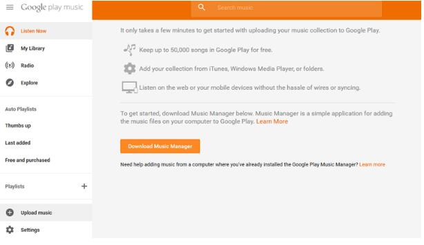 download google music manager
