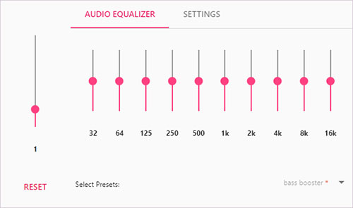 spotify web player equalizer