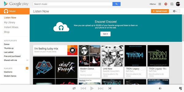 upload spotify to google music