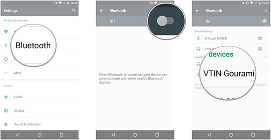 pair phone with echo via bluetooth