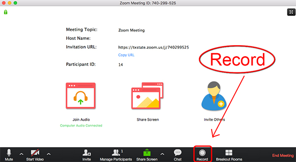 record zoom meeting pc