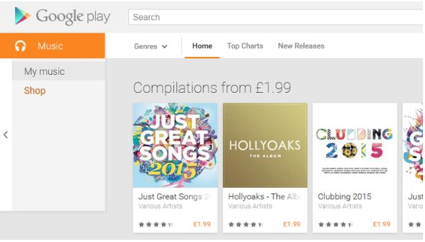 search for google music