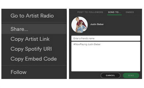 share spotify playlist via desktop app