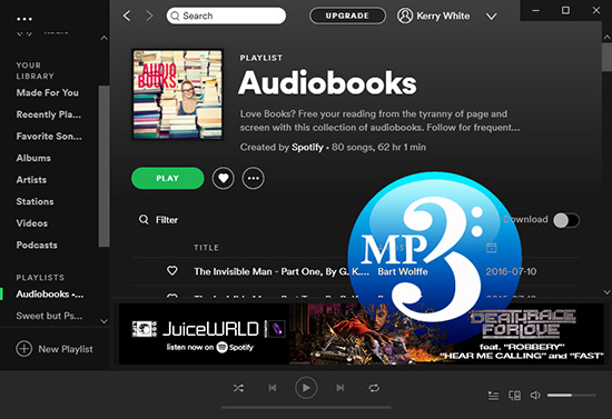 convert spotify audiobooks to mp3