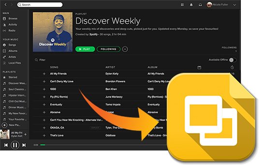 add spotify music to google slides