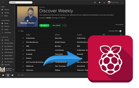 play spotify on raspberry pi