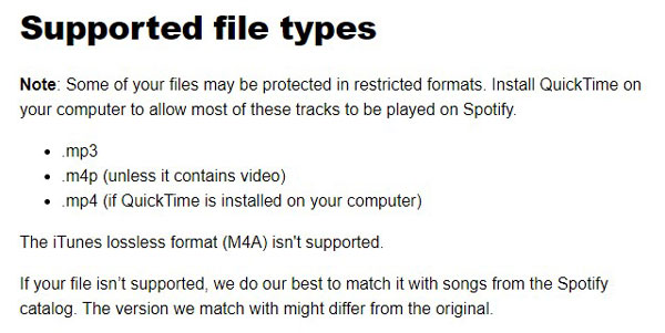 spotify supported file types