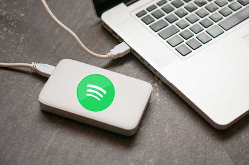 spotify music to external hard drive