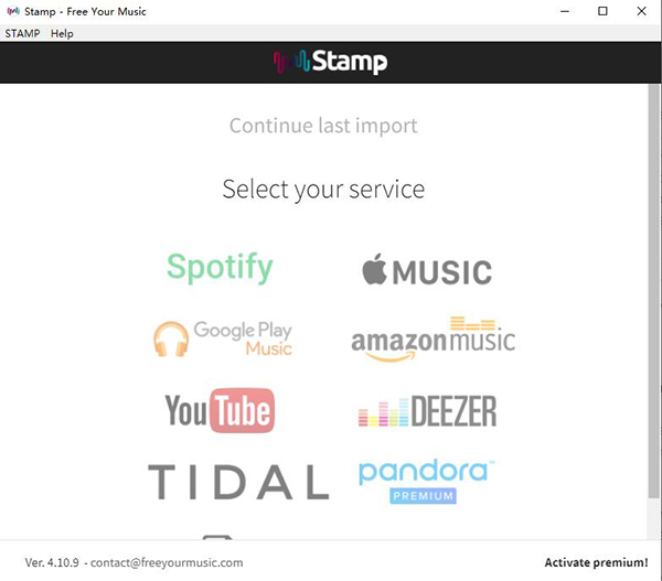 stamp tidal to spotify