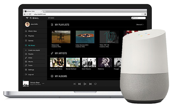 link tidal to google home