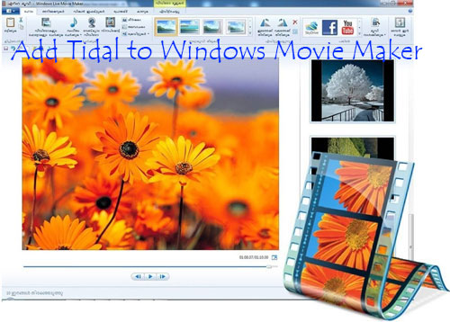 add tidal to windows movie maker
