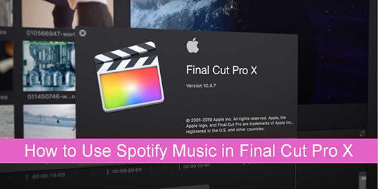 use spotify music in final cut pro x