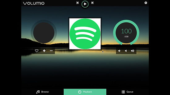 use spotify music on volumio player