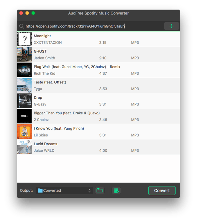 add spotify music to audfree