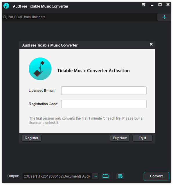 register tidal downloader