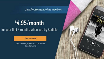 audible amazon prime day deals